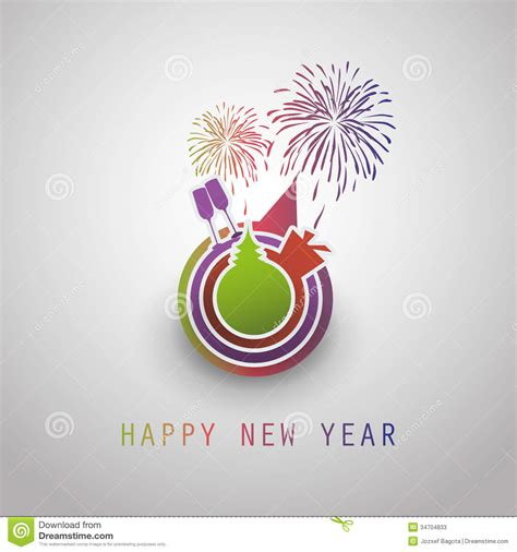 design free new year card new year card background 2014 stock vector image 34704833