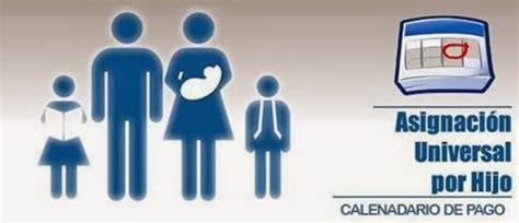 asignacin universal por hijo calendario de pagos noviembre 2012 ignacio online asignaci 243 n universal por hijo calendario