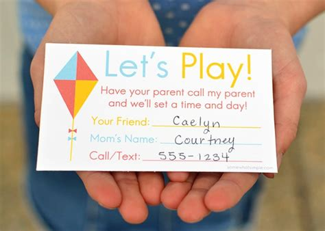 play date cards printable template printable playdate invite cards somewhat simple