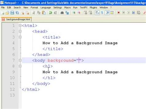 how to put a background image in html how to create web pages using html how to add a