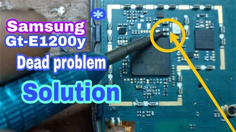 samsung e1200y dead solution