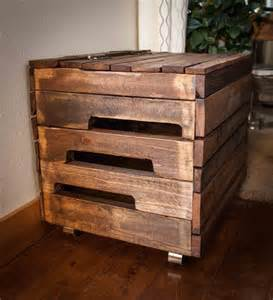 Bookcase With Toy Box Diy Pallet Wood Toy Box With Casters 101 Pallets
