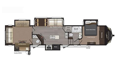 montana fifth wheel floor plans 2018 keystone montana high country 362rd floor plan 5th wheel