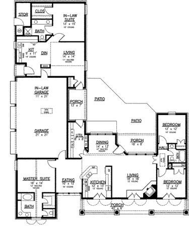 house plans with separate apartment separate apartment on main level hwbdo73936 country