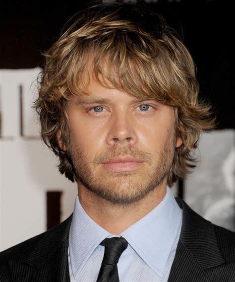 Eric Christian Olsen Medium Wavy Casual Hairstyle   Dark