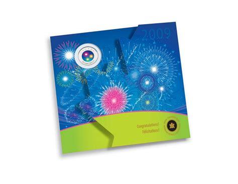 Coin Gift Card - 2010 congratulations coin gift card