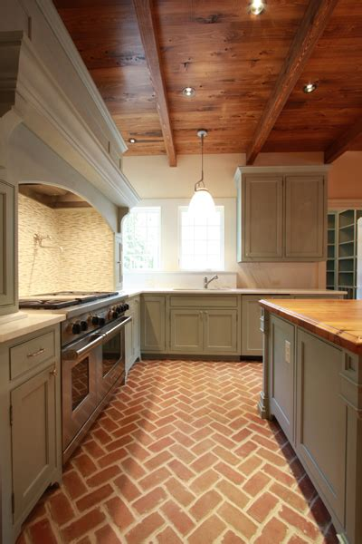 brick floor kitchen brick floor design ideas