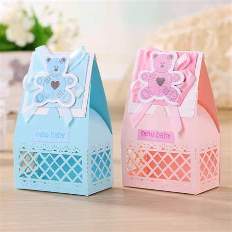 Baby Shower Favors For Guests by Pink And Blue Baby Favors Boxes Baptism Bombonieres