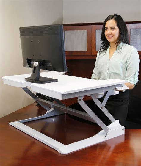 sit and stand desk platform workfit tl premium white sit stand desktop workstation