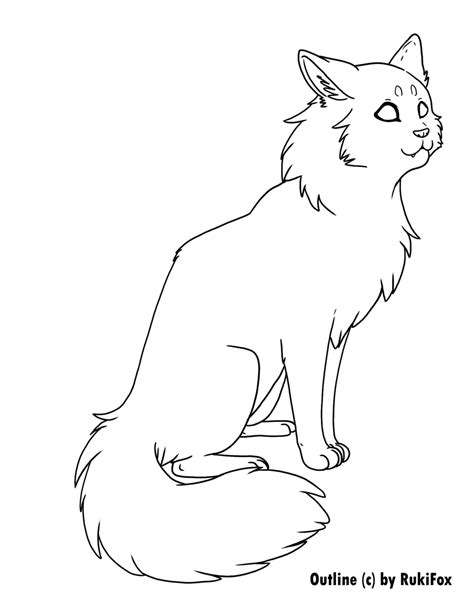 warrior cat template longhair cat template by rukifox on deviantart