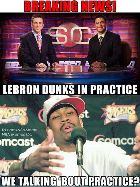 Allen Iverson Meme - not the game but we re talking about practice nba