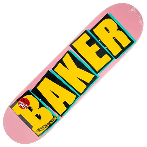 logo deck baker logo deck 8 25 quot pink at skate pharm