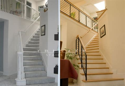 stair remodeling before after gallery stairstrinity stairs