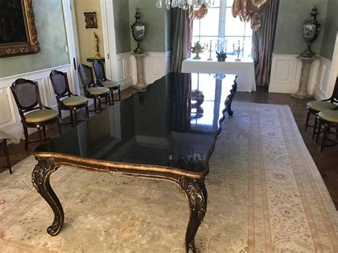 large custom marge carson  seat dining table  sale