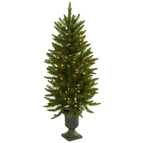 4 ft christmas tree with lights nearly natural 4 ft artificial christmas tree with urn
