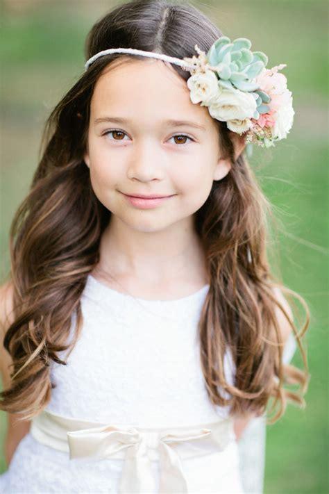 38 super cute little girl hairstyles for wedding deer pearl flowers