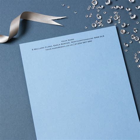 luxury writing paper personalised luxury writing paper by able labels