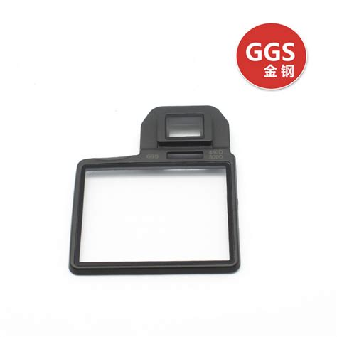 anti film ggs ggs iii glass lcd screen protector for canon 500d 450d
