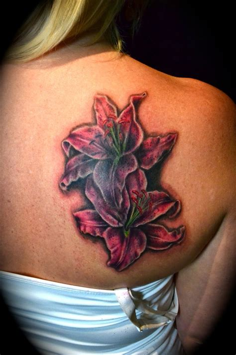 stargazer lily tattoo 17 best images about tattoos on lillies