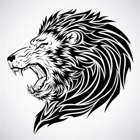 lion roaring tattoo designs roaring cliparts co