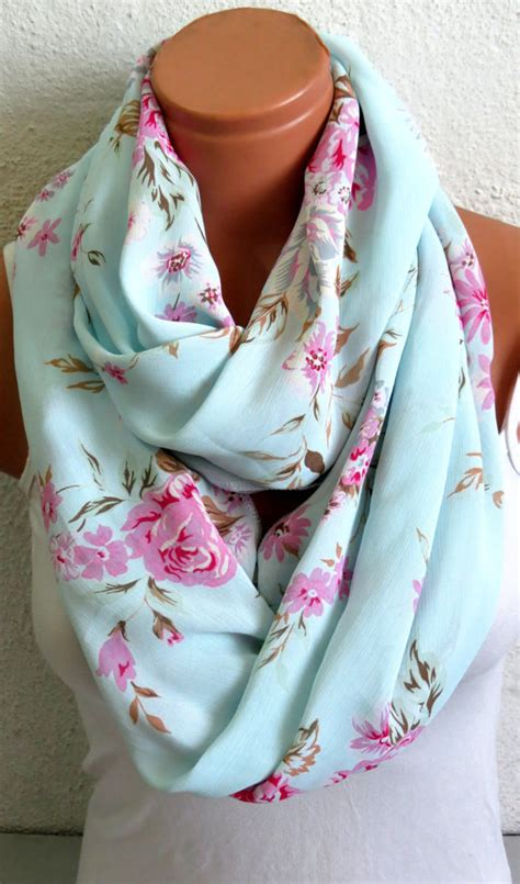 Pretty Scarves For by Infinity Scarf Floral Print Circle Loop From Emofofashion