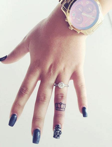 girly finger tattoos 25 best ideas about crown finger on