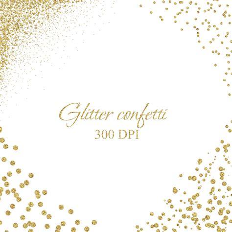 Wedding Overlay Clipart by Glitter Gold Clip Gold Confetti Borders Gold Confetti