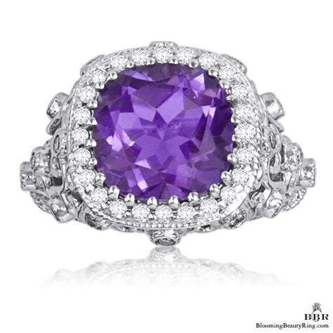 5 75 ctw antique scroll designed purple amethyst and