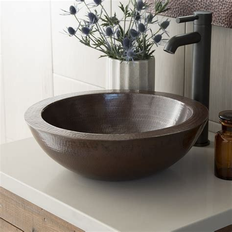 copper sinks bathroom laguna copper bathroom vessel sink native trails