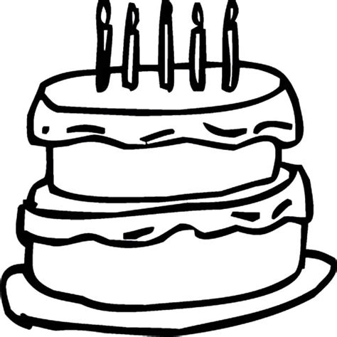 chocolate cake coloring pages cake outline pictures to pin on pinterest pinsdaddy