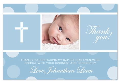 baptism thank you card template baptism christening thank you card blue pink by
