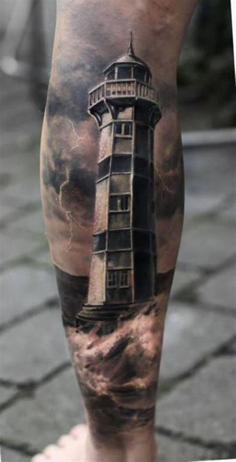 black and grey lighthouse tattoo 20 lighthouse tattoos tattoofanblog