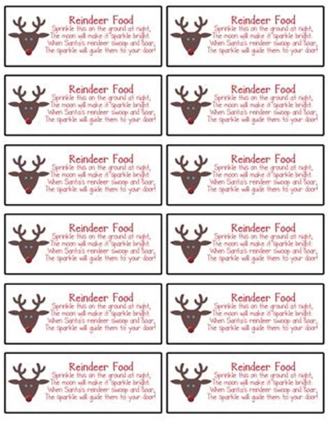 reindeer food printable gift tags a few of my quick and simple christmas mds ideas st