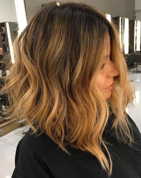 slightly angled long lob best medium length hairstyles new haircuts to try for