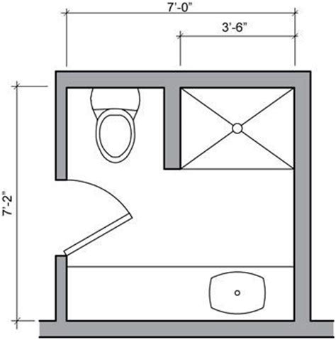 Small Bathroom With Shower Floor Plans Simple Bathroom Floor Plans Ideas For Small Space