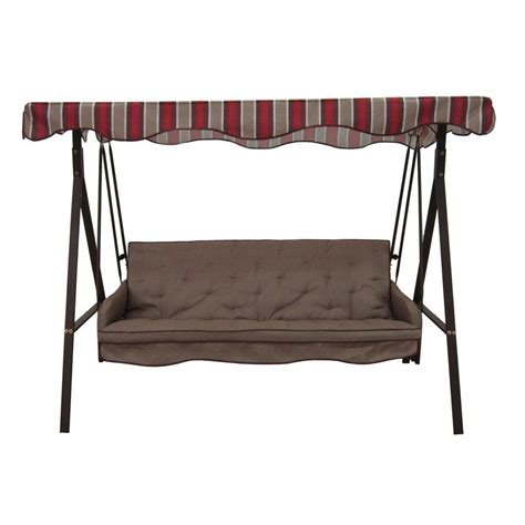 swing seat canada garden treasures 3 seat cushioned porch swing lowe s