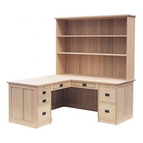 Solid Wood L Shaped Desk Mission L Shaped Desk With Hutch Lloyd S Mennonite Furniture Gallery Solid Wood Mennonite