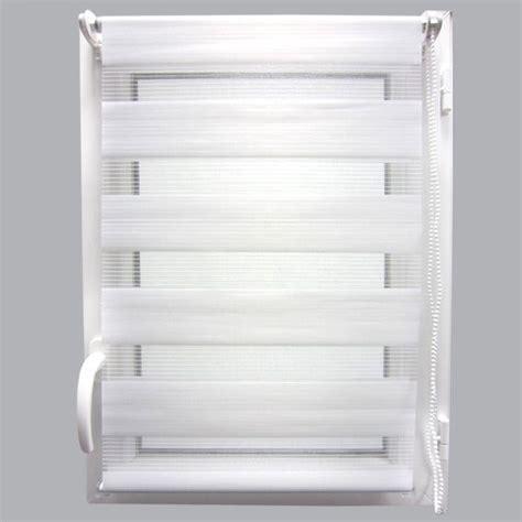 Store Jour Et Nuit Blanc by Store Enrouleur 60 X H250 Cm Jour Nuit Blanc Store