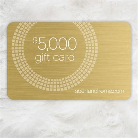 products scenario home - 5000 Gift Card