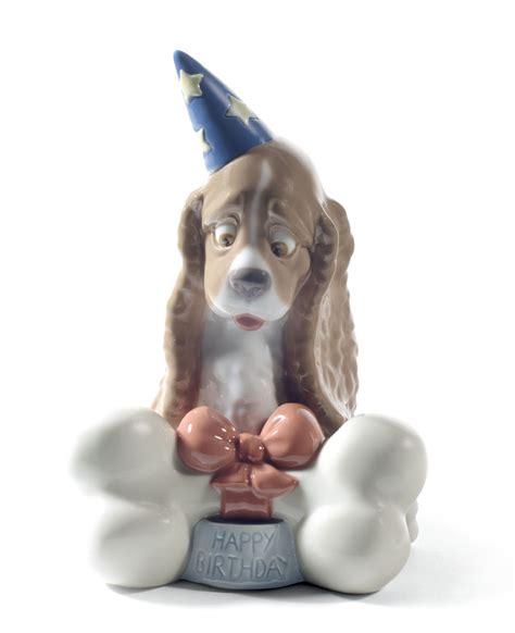 puppy figurines nao by lladro porcelain happy birthday figurine