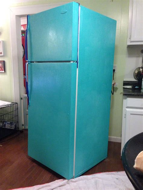 can you paint kitchen appliances diy painted refrigerator cozy crooked cottage
