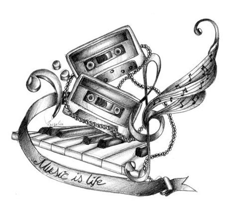 music is life tattoo sketch best tattoo designs