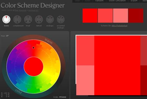 perfect color combinations colorschemedesigner 50 best free tools to create perfect