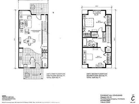 4 Bedroom Townhouse Floor Plans pleasant hill cohousing
