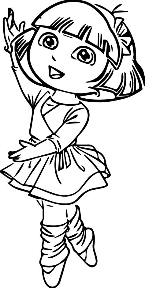 dora ballerina coloring pages best beautiful ballerina coloring pages for kids