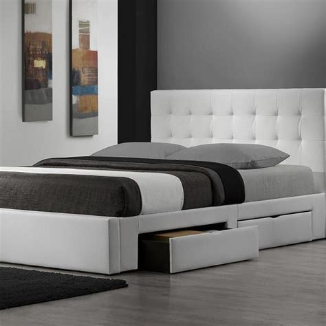 queen size bed white luxurious white padded low profile bed frame queen size