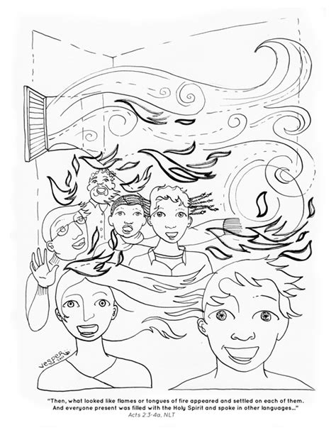 Free Holy Spirit Fire Coloring Pages Holy Ghost Coloring Page