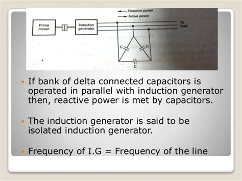 capacitor self excited induction generator induction generator and synchronous induction motor