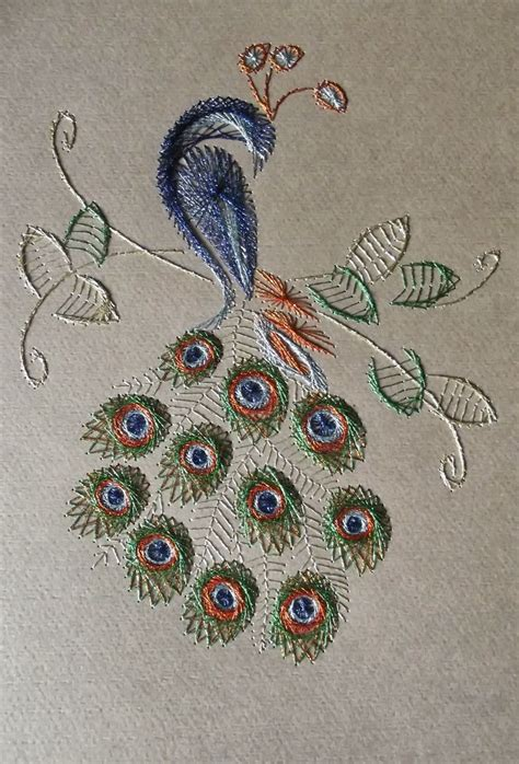 String Peacock Pattern - 486 best images about peacocks on embroidery