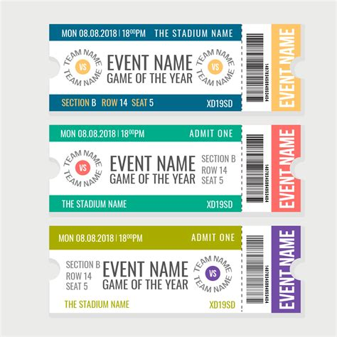entradas para eventos entradas para eventos deportivos vectoriales descargue